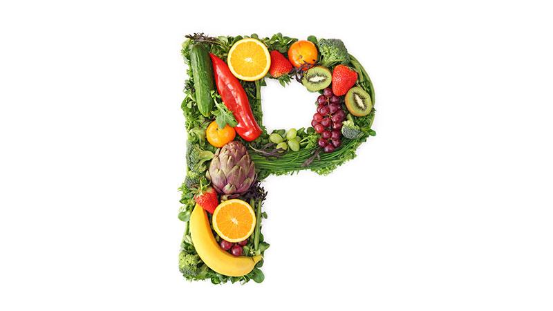 Buchstabe P aus Nahrung